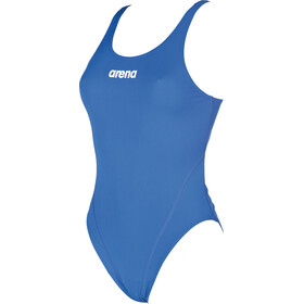 arena Solid Swim Tech High One Piece Swimsuit Dame royal-white
